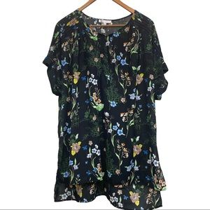 DR2 Floral Tunic Top Size XL